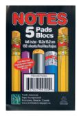 36 Units of NOTEPAD 5 CT 150 SHEETS 4 X 6 INCH