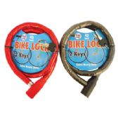 12 Units of PRIDE BICYCLE CHAIN LOCK 42 INCH WITH 2 KEYS HEAVY DUTY ASSORTED COLORS