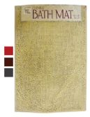 12 Units of CHENILLE BATH MAT 18 X 28 INCHES ASSORTED COLORS