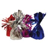 48 Units of BALLOON WEIGHT 5 INCH FOIL WRAPPED ASSORTED COLORS