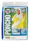 48 Units of ADULT PONCHO 52 X 80 INCH ASSORTED COLORS