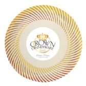 12 Units of CROWN DINNERWARE DINNER PLATE 10 PACK 10 INCH DISTINCTIVE COLLECTION GOLD - Disposable Plates & Bowls