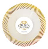 12 Units of CROWN DINNERWARE SOUP BOWL 10 PACK 12 OZ DISTINCTIVE COLLECTION GOLD