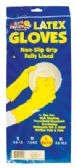 48 Units of LATEX GLOVE ONE PAIR LARGE FLOCKED