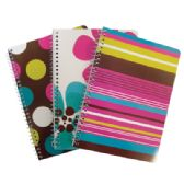 24 Units of SPIRAL NOTEBOOK 1 SUBJECT 70 SHEETS 10.5 X 8 INCHES COLLEGE RULE ASSORTED DESIGNS