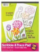 36 Units of TRACE AND SCRIBBLE PAD (10 TRACING SHEETS+30 SCRIBBLE SHEETS)