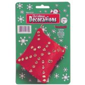 48 Units of PILLOW DECORATION WITH SEQUINS 3.5 INCH ASSORTED COLORS PREPRICED AT $2.99