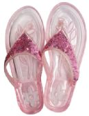 12 Units of LADIES EMBELLISHED JELLY FLIP FLOPS ASSORTED SIZES 5-11