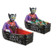 Inflatable Vampire & Coffin Cooler holds apprx 48 12-Oz cans - Party Novelties