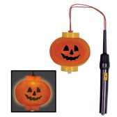 12 Units of Light-Up Pumpkin Lantern requires 2 AA batteries not included - Party Novelties
