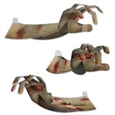 12 Units of 3-D Zombie Hands prtd 2 sides; assembly required