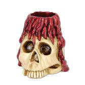 6 Units of Skull & Candle Tea Light Holder tea light not included - Party Novelties