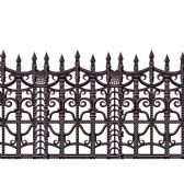 6 Units of Creepy Fence Border insta-theme - Party Novelties