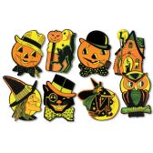 "24 Units of Pkgd Halloween Cutouts 8½""-9¼"" - Hanging Decorations & Cut Out"