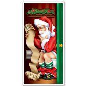 12 Units of Santa Restroom Door Cover indoor & outdoor use - Photo Prop Accessories & Door Cover