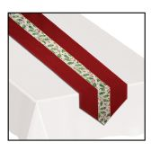 6 Units of Christmas Holly Fabric Table Runner - Table Cloth