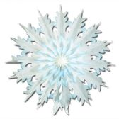 12 Units of Pkgd Dip-Dyed Snowflakes - Hanging Decorations & Cut Out