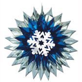 12 Units of Snowflake Fan-Burst - Hanging Decorations & Cut Out