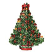 12 Units of 3-D Christmas Tree Centerpiece assembly required