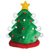 12 Units of Plush Christmas Tree Hat one size fits most