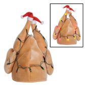 6 Units of Plush Light-Up Christmas Turkey Hat requires 3 AA batteries not included; one size fits most