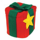 6 Units of Felt Christmas Gift Hat one size fits most
