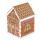 12 Units of 3-D Gingerbread House Centerpiece 8""