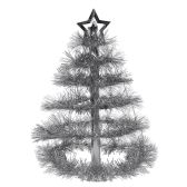 12 Units of Christmas Tree Centerpiece silver