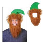 12 Units of Green Hat w/Beard one size fits most - Party Hats & Tiara