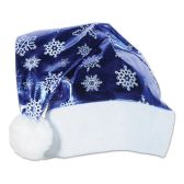 12 Units of Metallic Blue Santa Hat one size fits most - Party Hats & Tiara