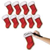 12 Units of Mini Christmas Stocking Cutouts prtd 2 sides
