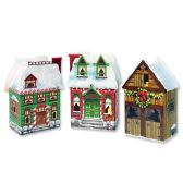 12 Units of Christmas Village Favor Boxes assembly required