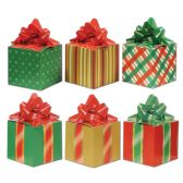 12 Units of Christmas Favor Boxes prtd 2 sides w/different designs; assembly required