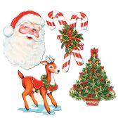 12 Units of Pkgd Christmas Cutouts prtd 2 sides