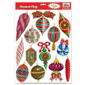 12 Units of Christmas Ornament Clings
