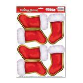 12 Units of Christmas Stockings Peel 'N Place
