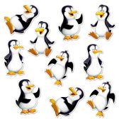 24 Units of Mini Penguin Cutouts prtd 2 sides - Hanging Decorations & Cut Out