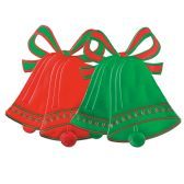 24 Units of Foil Christmas Bell Silhouettes asstd red & green; foil/prtd 2 sides - Streamers & Confetti