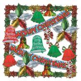 1 Units of Merry Christmas Metallic Dec Kit-20 Pcs