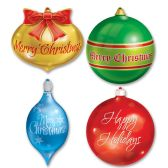 12 Units of Christmas Ornament Cutouts prtd 2 sides