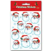 12 Units of Santa Face Stickers