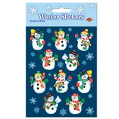 12 Units of Snowman Stickers