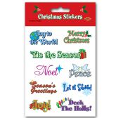 12 Units of Christmas Expressions Stickers