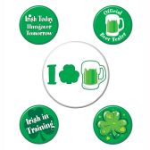12 Units of St Patrick's Party Buttons asstd designs