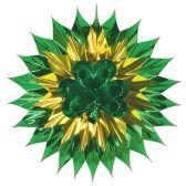 12 Units of Shamrock Fan-Burst - Hanging Decorations & Cut Out