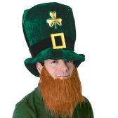 6 Units of Plush Leprechaun Hat w/Beard one size fits most - Party Hats & Tiara