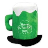 6 Units of Plush St Patrick's Day Beer Mug Hat one size fits most - Party Hats & Tiara