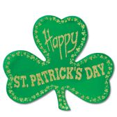 24 Units of Glittered Foil Shamrock Cutout - Hanging Decorations & Cut Out