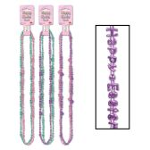 12 Units of Happy Easter Beads-Of-Expression asstd colors - Party Necklaces/Bracelets/Headpiece