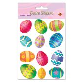 12 Units of Easter Egg Stickers